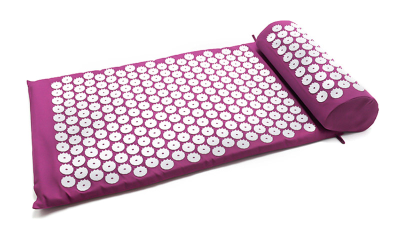 Non-Slip Acupressure Cushion Massage Mat Body Pain Spike Fitness Pilates Exercise Pillow Yoga Mat Gift Bag Applicator 35