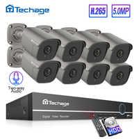 H.265 8CH 5MP Hd Poe Nvr Kit Cctv Sistema a Due Vie Audio Suono Ai Ip Della Macchina Fotografica di Ir Esterno P2P Video sorveglianza di Sicurezza Set di 2 Tb Hdd
