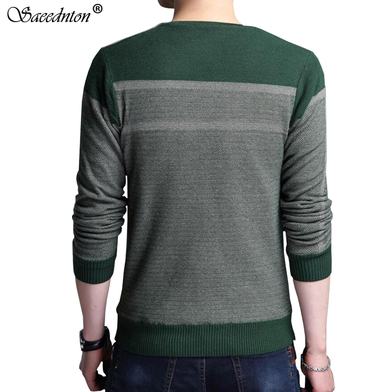 2020 New Autumn Winter Mens Pullover Sweater Men Patchwork Casual V-neck Sweater Men's Slim Fit Knitted Pullovers Clothing M~4XL