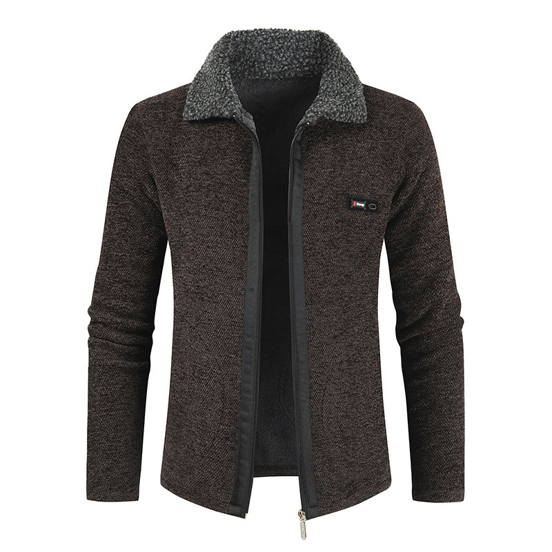 Image 3 - NEGIZBER 2019 Winter Mens Coat and Jackets Solid Slim Fit Thick  Fur Wool Coats Men Fashion Warm Mens Cashmere Jacket  StreetwearJackets