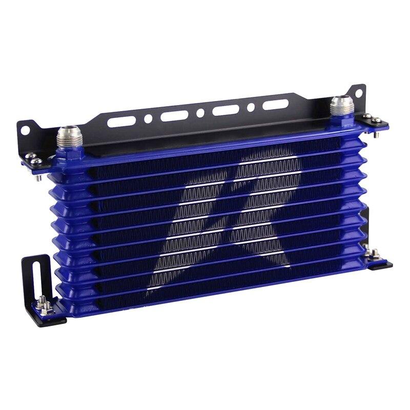 LINESRACING AN10 10 ряд Алюминиевый Масляный охладитель W/262 мм Монтажный кронштейн комплект Trust Type черный/синий