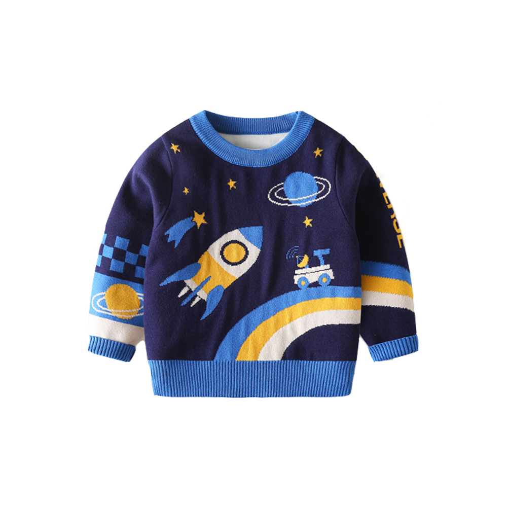 Mudkingdom Winter Kids Boys Knit Sweaters Toddler Cartoon Fashion Clothing Fall Children Pullover Clothes 2