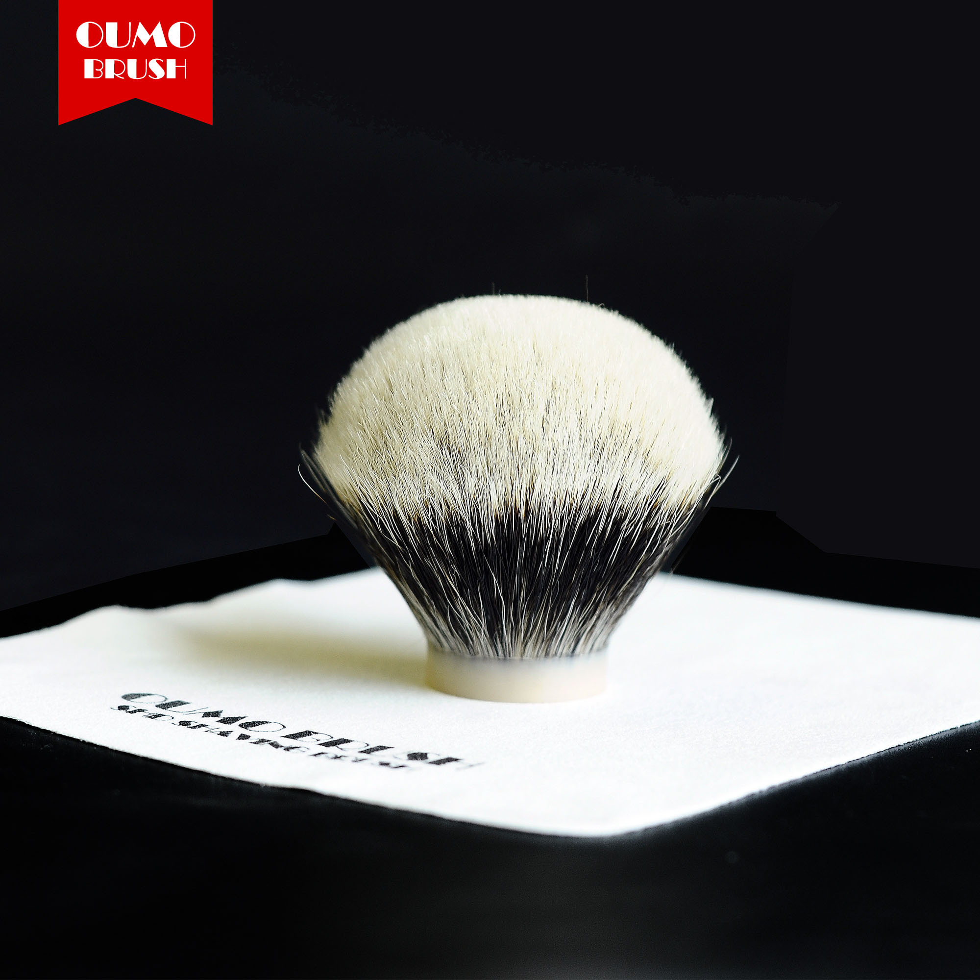OUMO BRUSH-  SHD Chubby Bulb Manchuria Finest Two Band Badger Hair Knots Shaving Brush Knots