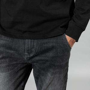 Image 3 - SIMWOOD 2020 spring winter new washed black jeans men little elastic denim trousers plus size brand clothing SI980581
