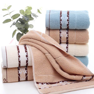Cotton Towel Absorbent Hand-Bath-Cloth Face Gift Bathroom Quick-Drying Stripe 35--75cm