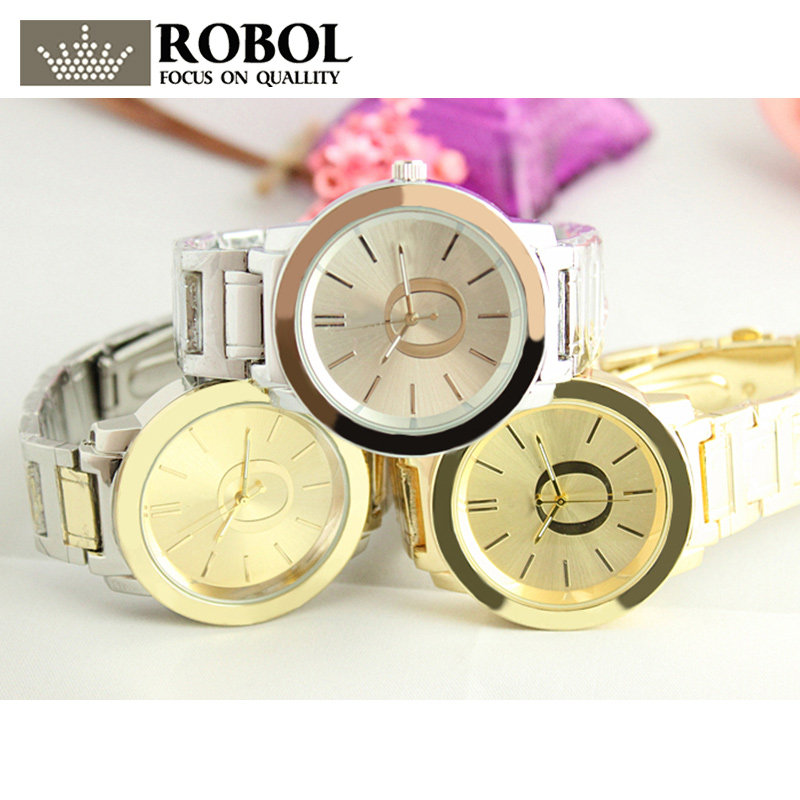 RLLEN Stainless Steel Men Women Couples Quartz Watches Fashion Luxury Jewelry Gift Temperament Charm Retro Generous