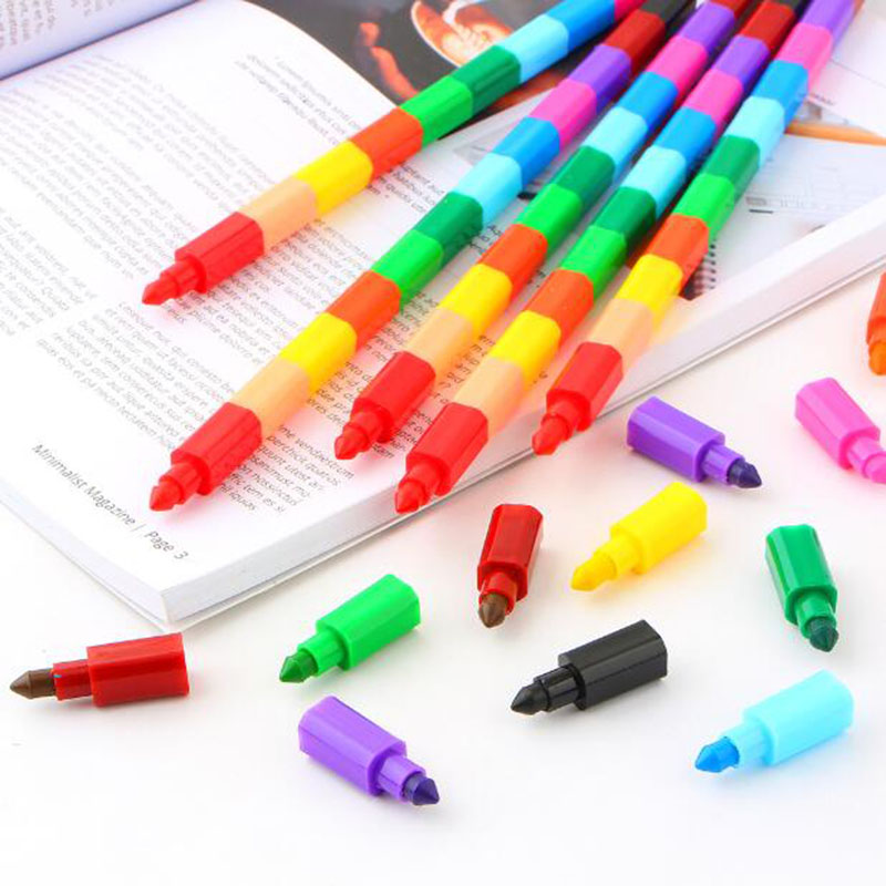Creative Novelty Crayons 12 Sections Color For A Painting Stick Children'S Painting Art Color School Reward Student Stationery