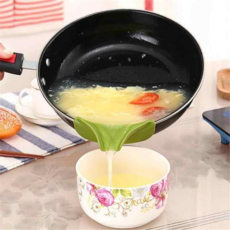 Kreatywny Anti-spill podkładka silikonowa na wlać lejek wylewka do garnków patelnie i miski i słoiki przyrząd kuchenny narzędzie Dropship