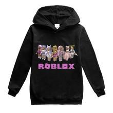 Kids Girls Sweatshirt Spring Autumn Boys Hoodies Robloxing Long Sleeve Hoodie T-shirt Top Teens Kids Clothes Children's Clothing