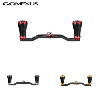 Gomexus 105mm uchwyt zasilający z włókna węglowego dla Shimano Daiwa Abu Garcia lews Quantum tyczki okrągły kołowrotek jako opis