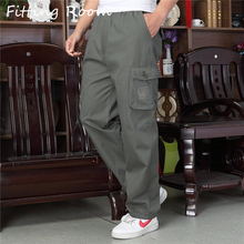 Fitting Room Large Size High Quality Winter Warm Men Pants T