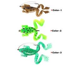 цена 6CM 5.2g 3D Frog Snakehead Fishing Lure Wobblers Pencil Fishing Minnow Soft Worm Fish Lures Artificial Bait Bass Hooks Tackle онлайн в 2017 году