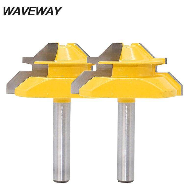 WAVEWAY 8 мм хвостовик Средний замок Торцовочная фреза 45 градусов-3/4