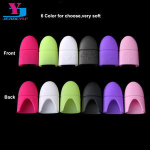 Image 1 - New 10pcs UV Gel Polish Remover Wrap Silicone Plastic Soak Off Cap Clip Manicure Cleaning Varnish Nail Art Tool Reuseable Finger