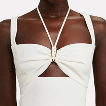 Standard Fashion Vision 21 Early Spring New Style Hollow Sexy Halter Bra Camisole, Black and White 2 Colors