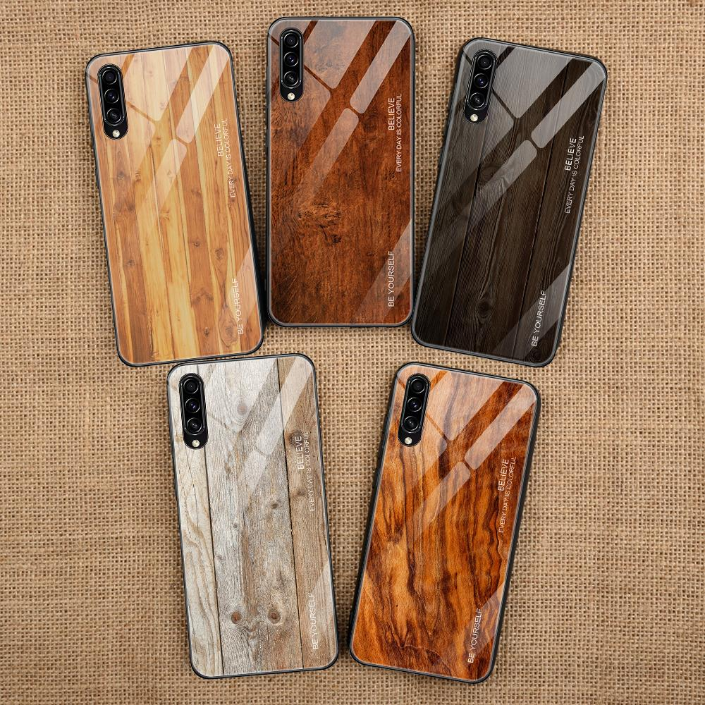 Luxury Phone <font><b>Case</b></font> For <font><b>Samsung</b></font> Galaxy A10 A20 A30 s <font><b>A40</b></font> A50S Wood Back Cover TPU Bumper <font><b>Case</b></font> For <font><b>Samsung</b></font> Galaxy A50 Hard PC Coque image