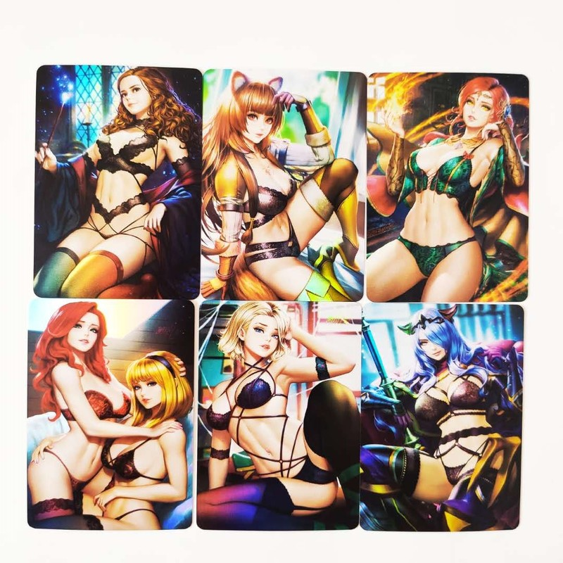 9pcs/set Sexy Beauty Toys Hobbies Hobby Collectibles Game Collection Cards Sexy Girl Free Shipping