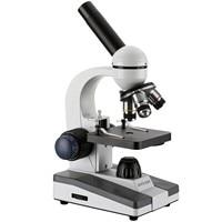 Microscopio Monocular LED portátil para estudiantes, AmScope 40X-1000X, oferta especial