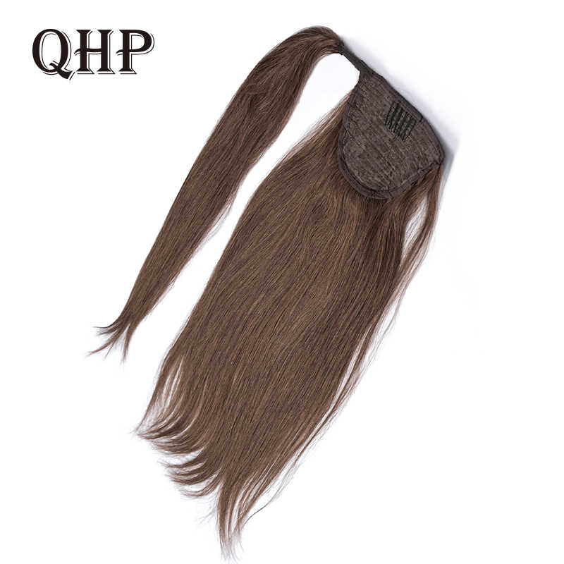 Ponytail Human Hair Remy Straight European Ponytail Hairstyles 100g 100% Natural Hair Clip in Extensions