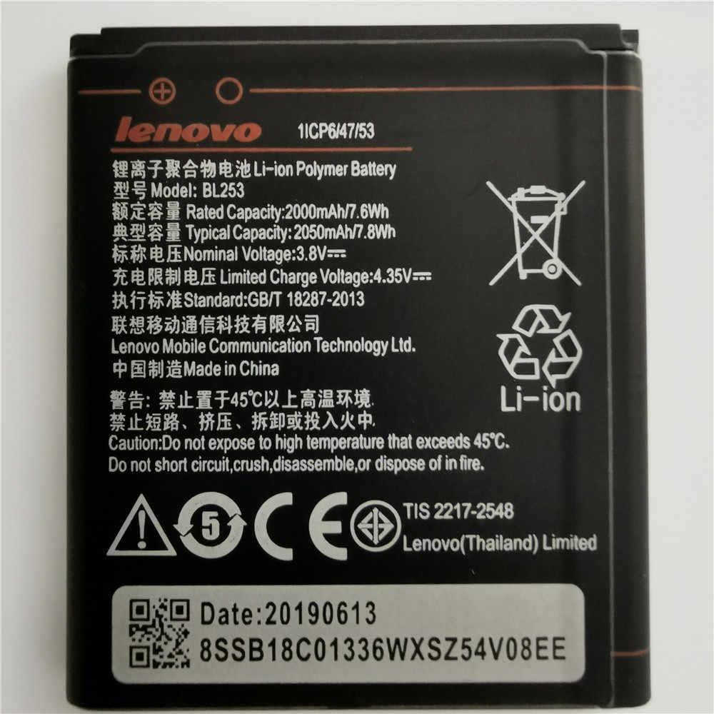 2019 Baru Tinggi Kapasitas 2050 MAh BL253 Baterai UNTUK LENOVO A2010 Bateria 2010/BL 253 BL-253 A1000 A1000m 1000 Ponsel
