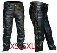 Pantalon en cuir pour hommes locomotive style punk pantalon pour hommes mode hiver hommes vêtements pantalon homme grande taille hommes vêtements