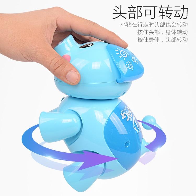 CHILDREN'S Electric Toys Universal Walking Light Music Qq Zhu Toy Cartoon Pig Educational Early Childhood Stall Toy
