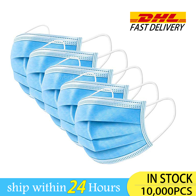 DHL Anti-Pollution Dust Protection Anti Dust Gas Face Masks One-use Mascherine Protection Mask Protective Facemasks Mask Face