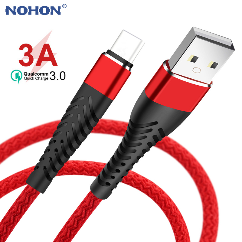 1m 2m 3m USB Type C Cable For Samsung S10 S9 Huawei P30 Pro Xiaomi Mi 8 9 Redmi K20 Note 7 Fast Charging USB Type C Charge Cord|Mobile Phone Cables|   - AliExpress