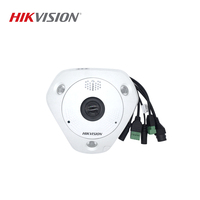 HIKVISION DS 2CD6365F IVS Chinese Version 6MP Fisheye View Waterproof IR 15M IP Camera Support SD Card / PoE/ IR ONVIF