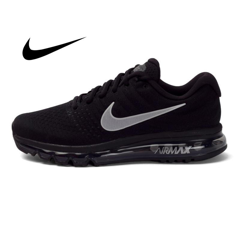 Original Brand  Authentic Nike Air Max 2017 Breathable Men's New Arrival Official Lace-Up Sports Sneakers Running Shoes 849559