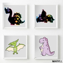 Scratch Painting Paper Card Set Cartoon Dinosaur Kid Learning Art Painting Gifts