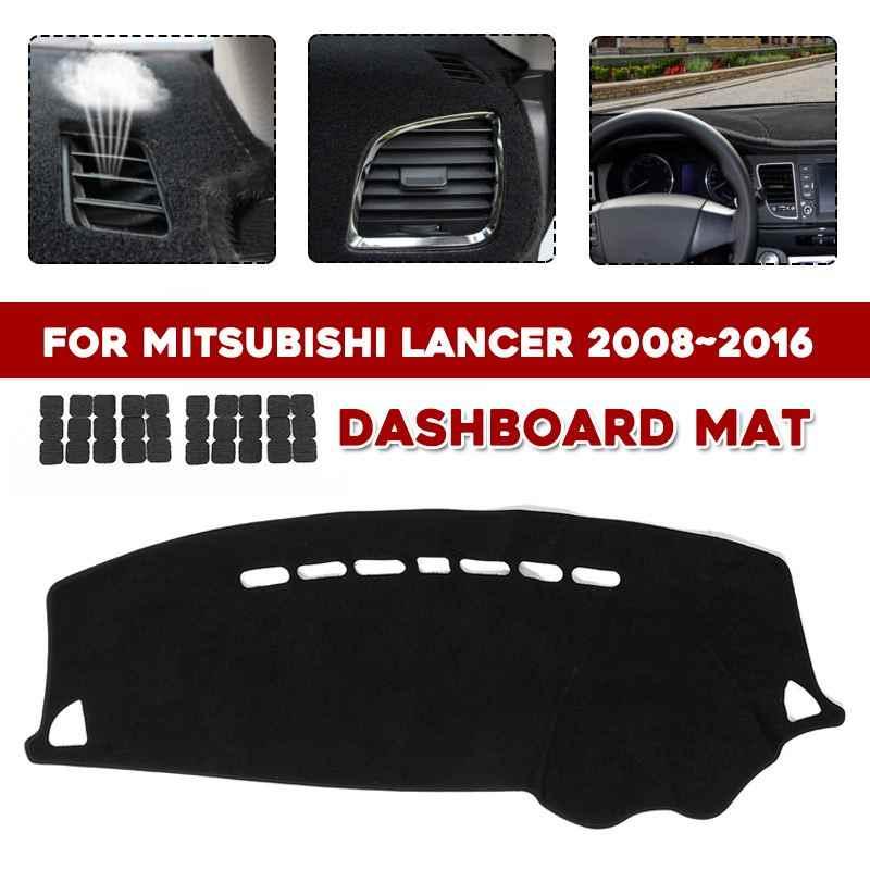 Dash Mat Dashmat พรมสำหรับ Mitsubishi Lancer 2008 ~ 2016 Dashboard ป้องกันฝุ่นฟังก์ชั่นการกรองกันน้ำป้องกัน UV