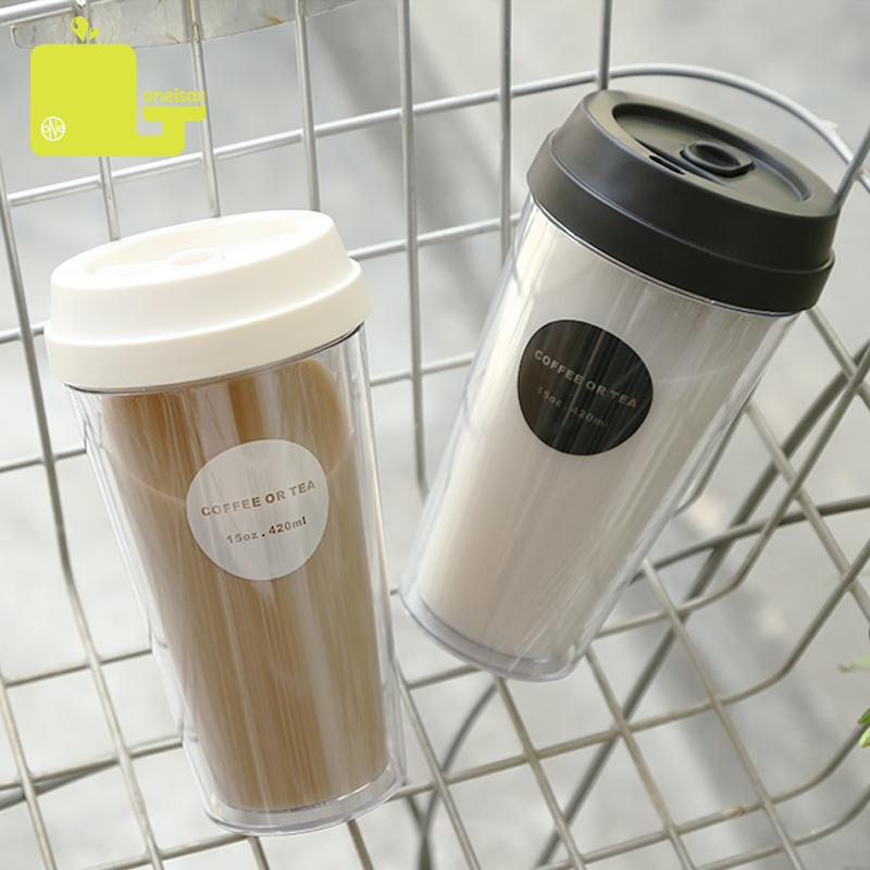 Oneisall Plastic Water Bottle 420ML 15oz Tumbler Cup BPA Free Drinking With Lid For Coffee Tea My Water Bottle|plastic water tumblers|water tumblerdrink bottle plastic - AliExpress