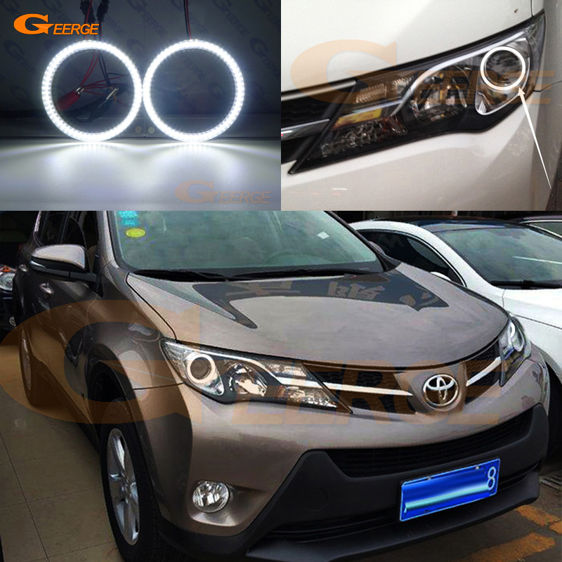 For Toyota RAV 4 RAV4 IV 2013 2014 2015 Excellent Smd Led Angel Eyes Kit Halo Rings Ultra Bright Illumination DRL