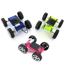 Kids DIY Solar Car Toy Mini DIY Assembly Solar Panel Energy Car Vehicle Model Kids Educational Toy 2 sets green model miniature of delight mini solar car stepper motor diy for production technology teenage enlightenment toy