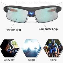 Солнцезащитные очки умные очки с УФ-защитой ЖК объектив Водонепроницаемая технология авто изменение цвета интеллектуальные солнцезащитные очки гибкие складные