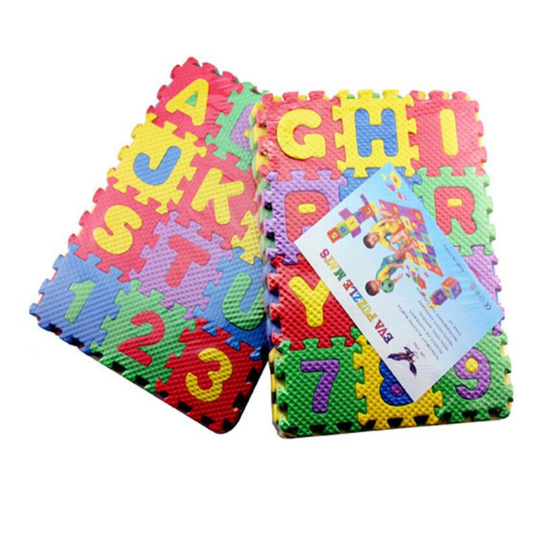 H16b7cbda64b346b9bb37f074c9f4b1afv 36pcs Russian Alphabet Baby Toy Foam Puzzle Mat EVA Educational Play Mat Baby Crawling Mats Carpet  Early Teaching Floor Mats