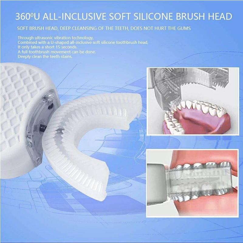 Electric Toothbrush oclean x pro Automatic Ultrasonic 360 Nano Silicone U shaped USB Rechargeable Wireless Teethbrush Children