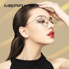 MERRYS DESIGN 여성 패션 트렌드 라운드 안경 프레임 숙녀 근시 안경 처방 광학 안경 S8112N