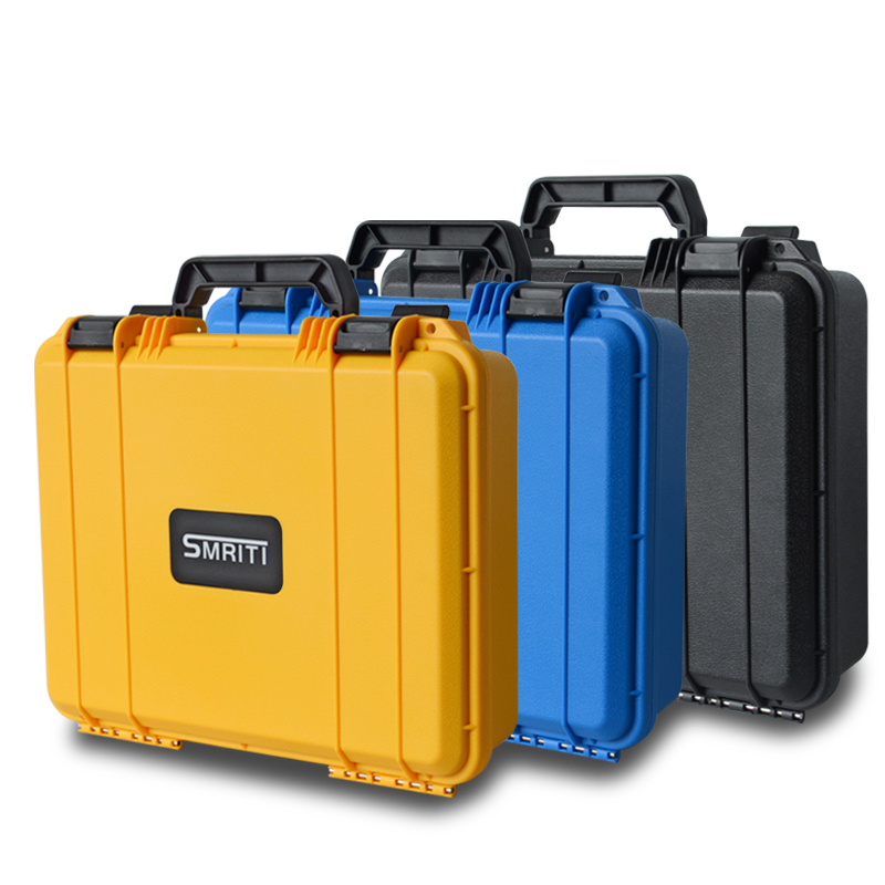 370x285x105mm Safety Instrument Tool Box ABS Plastic Storage Toolbox Sealed Tool Case Shockproof Box With Foam Three Color