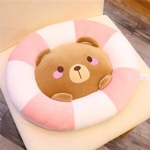 Симпатичная плюшевая подушка, плавательное кольцо, подушка для девочки, офисное кресло, плюшевые подушки, игрушки, кавайные мягкие подушки из хлопка