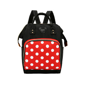 Image 1 - Mickey Minnie Women Backpack Casual Travel Bag for Teenagers School Bag Large Capacity Female Shoulders Bags Fashion BAG0006