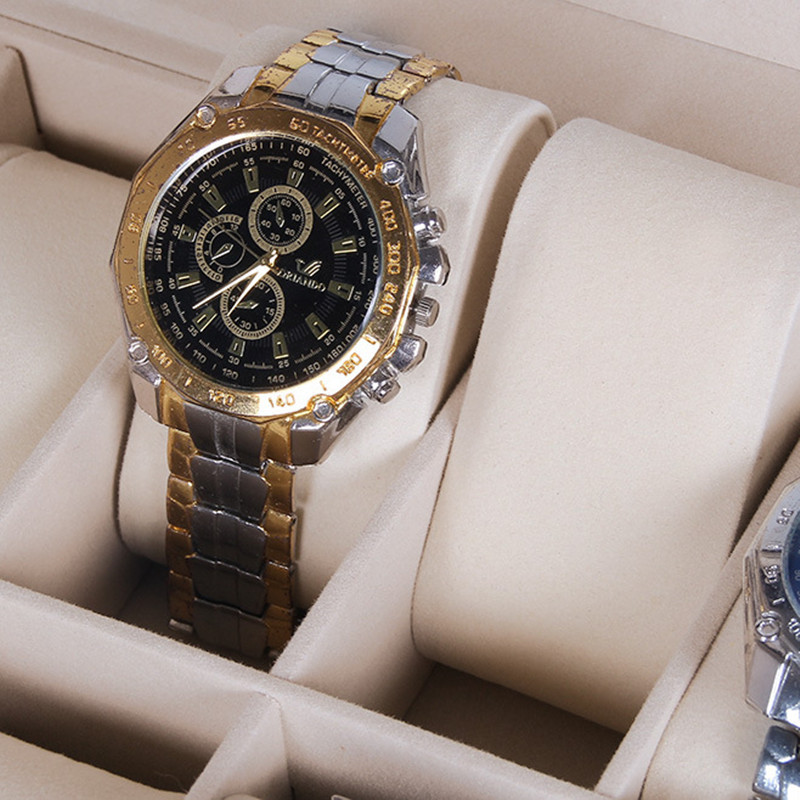 Allbai 2020 High-Grade 10 Pu Multifunctional Watch Storage Box Watch Wood Spot Packaging  Gift Box