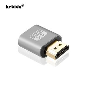 kebidu VGA Virtual Plug HDMI Dummy Adapter Virtual Display Emulator Adapter DDC Edid Support 1920x1080P For Video wholesale