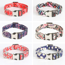 Custom Dog Nylon Collar Personalized Dog ID Tag Stainless Steel Engraved Name Necklace Pets Supplies Accessories