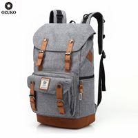 OZUKO Neue Große Kapazität Bagpack Laptop Tasche Casual Männer Rucksack Mode rucksack Reisetaschen Hohe Qualität