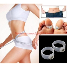 New 1Pair Silicone Magnetic Massage Foot Toe Ring Slimming Lose Weight Care Tool Slimming Product