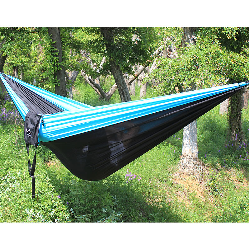 Camping Hammock Double Camp  Portable Lightweight Nylon Fabric For Outdoor Travel Suspension Handy Hammock 300*200cm