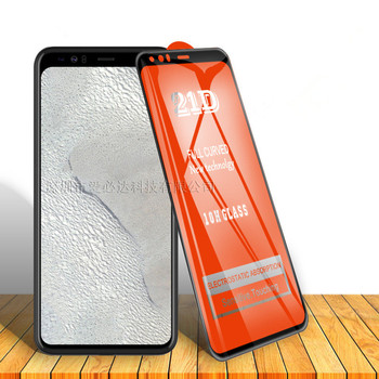 Перейти на Алиэкспресс и купить 2 шт 21D сотовый телефон Закаленное стекло пленка полный закругленный протектор экрана для Google Pixel 2 2XL 3 3XL 3A 3AXL 4 4XL XL