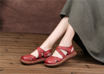 Sandals Manual Genuine Leather Woman Sandals Women's Shoes